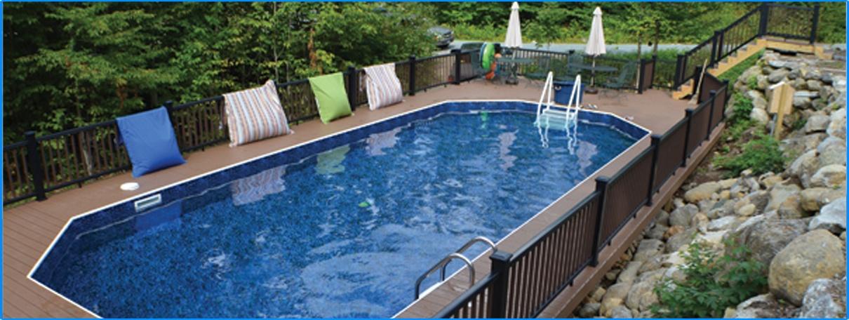Mansfield Keystone Semi Inground Pool Custom Pools